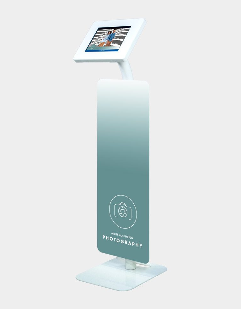 Branded photo booth sharing station