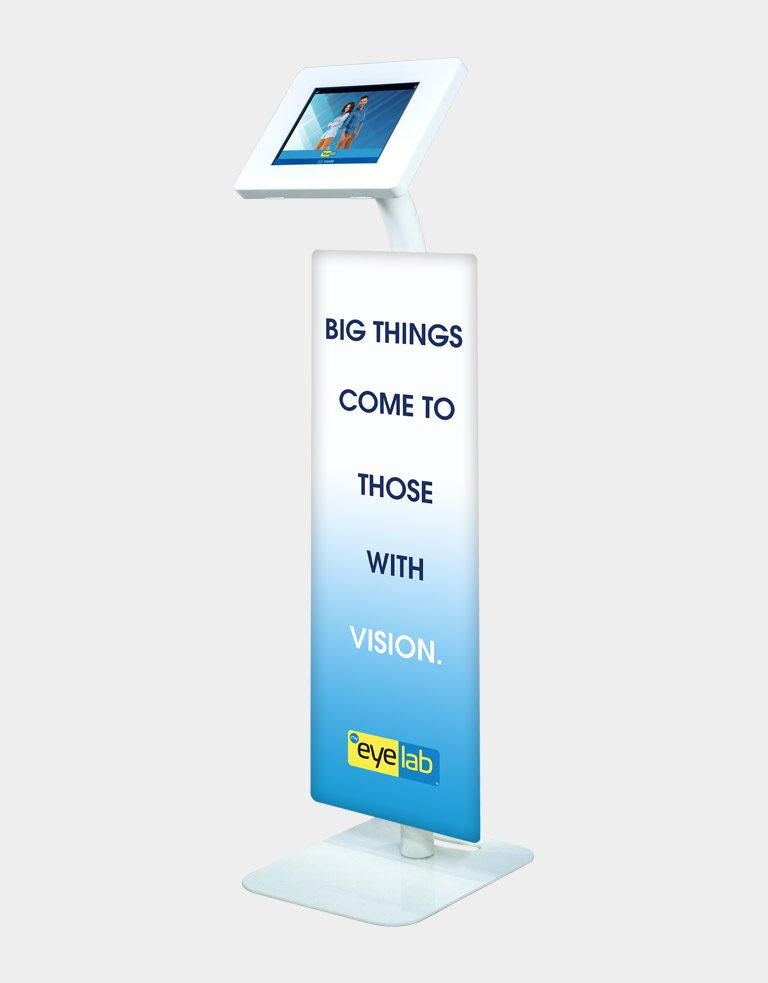 Brandable photo booth sharing station