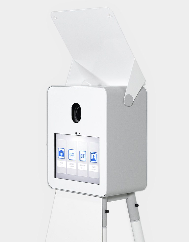 photo booth kiosk with printer